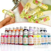 Nail Polish airbrush colours - Colours ml Nail Art Airbrush Paint Ink For D Painting Design Full Set