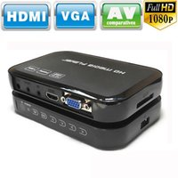 Full HD 1080P Lecteur multimédia RM / RMVB / AVI / MPEG Lecteur multimédia multimédia HDMI YPbPr VGA AV USB SD / MMC Télécommande