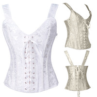 acrylic chest - Suspender Corset Newest Sexy Bow Bustiers Hot Shapers Body Chest Women Fashion Corset Twinset Color Size S XXL
