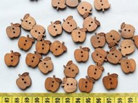 aqua coffee - 400pcs coffee Wooden Apple Buttons mm flowers ornament for jewelry scrapbooking bags crafts or you specify color