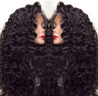 Wholesale High Quality A Human Hair Malaysian Deep Wave Lace Front Full Lace Wigs