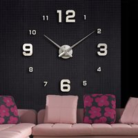 antique track lighting - Large Simple Digits Watch Wall Clock Modern Design Sticker DIY Mirror Acrylic Glass Decal relogio de parede horloge order lt no track