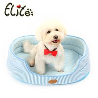pet fabric - Summer Use Cold Feeling Fabric Dogs Bed Summer Special Use Pink Blue Dog Beds Washable Medium Small Pets