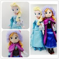 Wholesale Hot Really Girl Frozen Dolls cm inch Elsa Anna Toy doll Action Figures Plush Toy Baby Kristoff Dolls Christmas Gifts
