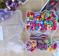 Wholesale children s educational DIY accessories materials acrylic Beaded boxes