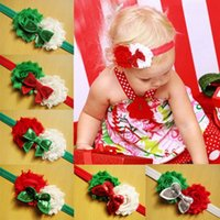 sequin scarves - New Fashion Christmas Worn edges flower Sequins Bow Children s hair band Baby Hair Accessories Baby flower scarf color
