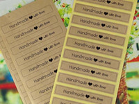 adhesive labels stickers - 2400PCS Kraft Sticker Labels quot Handmade with Love quot stickers Christmas gift labels Sealing adhesive labels