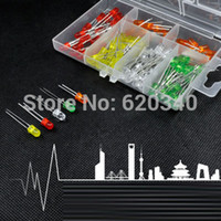 Wholesale PC MM Light Emitting Diode for White red blue green yellow Box order lt no track