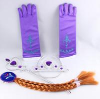 Wholesale set Elsa Anna Crown Cosplay Tiara Hair Accessories set Christmas Gift Princess Cosplay Set