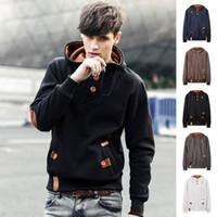 Wholesale Winter brand men hoodies fleece warm hoody sweatshirt mens hoodi jacket hip hop hoodi autumn sportwear fleece tracksuit