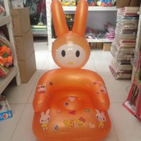 Wholesale Cute Portable Cartoon Baby Chair Lovely Inflatable Chair PVC Kids Learn Chairs Baby Seats Random Color JF0009