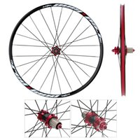 Wholesale Black Red Bicycle Wheel H Disc Brake Bike Wheel MTB Mountain Bicycle Bike Wheelset Hubs Rim Front Rear Set Lightweight
