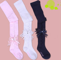baby panty hose - 10PAIR LJJH722 Baby girl Knee stockings children kids lace floral cotton flower long socks tights leg warmer hosiery stocking panty hose