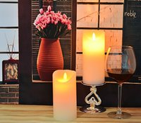 Color Change LED Candles - decoration candle Flameless moving fliker led wax yankee candle light Reative wax candle gift set wax LED candle