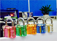 Wholesale Transparent Visable Cutaway Practice Padlock Lock Pick for Locksmith