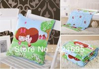 Wholesale Home Textile Moss doll Multifunctional summer patchwork quilts Folding as pillow or cushion the blanket