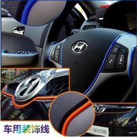 car parts auto accessories - Hot new arrived meters Decorative thread sticker indoor pater car body inner decals styling tags auto parts accessory for Focus K2