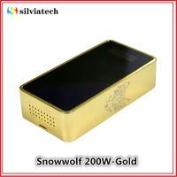 Wholesale Authentic Snowwolf W Box Mod W Gold Kit Snow Wolf Mod W V Temperature Control Low Voltage Protection Vs Eleaf iStick