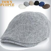 beret party hats - 2015 fashion Summer Peaked Beret hat Newsboy Visor Hat Cap Cabbie beret Golf Driving Flat Gatsby Flat Caps flax Hats