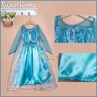 low price dresses - 2014 Summer Dresses Girl Dress Blue Frozen Tulle Princess Dress Kids Party Clothing frozen Elsa dress low price dresses