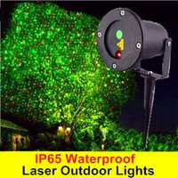 Wholesale IP65 Waterproof Laser Outdoor Lights Firefly Stage Lights Garden Sky Star Lawn Lamps Decorations Waterproof Red Green Color Cheap Price