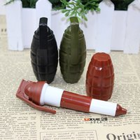 Wholesale 2015 new Creative personality stationery Ballpoint Pens fire grenades Ballpoint Pens telescopic blue Ballpoint ink Hand grenades Pens