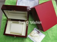 13011 Wood Red Classic Luxury Original Watch Box Book Card Top Brand Gift Jewelry Bracelet Bangle Display Wood PU Leather Red Storage Case Pillow 3011
