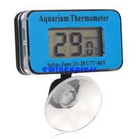 Wholesale Other Aquarium Fish Supplies Waterproof Digital LCD Fish Aquarium Tank Water Thermometer Battery Power Sucker Hot New