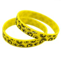 Wholesale Hot Sell PC Printed Colour Neff Smile Face Silicone Bracelet A Great Way To Show Your Difference By Wearing This Wristband