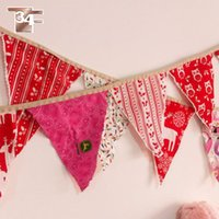 beautiful new year tree - Christmas flags christmas decoration new year enfeites de natal beautiful noel christmas made by DIY fabric SP506