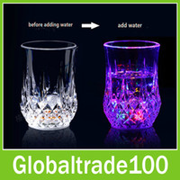 Wholesale Decorative Acrylic Colorful LED Light Glow Flash Water Activated Drink Beer Wine Cup for Weddings Party Bar