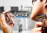 Wholesale 180m outdoor Travel portable pocket cassette shaver personal care shaving razor tool folding razor blade mini card razor for men face