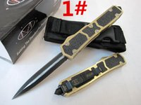 Wholesale HIght Recommend microtech Sword ant models optional Hunting Folding Pocket Survival Knife Xmas gift for men copies freeshipping