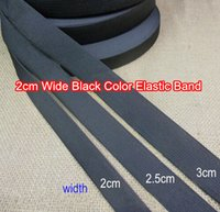 Wholesale 20 meter feet cm Wide Black Elastic Band Stretchy Belt DIY Accessories For Garment Bags Hat and more