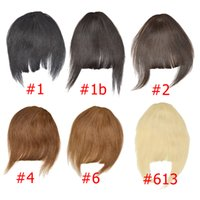 Wholesale 100 real brazilian human hair bangs clips on fringe straight human hair extensions colors