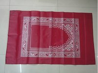 Wholesale 50pcs mix color portable pocket prayer mat prayer rug with qibla finder and metal plates at corners