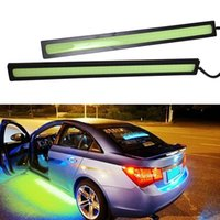 automotive led light strips - 1Pair Waterproof daytime running light led car strip lamp automotive car styling automobiles order lt no tracking
