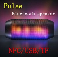 speaker new and brand - Brand New Pulse Portable Wireless Bluetooth Speaker Support NFC Colorful LED lights U disck and TF card Outdoor Speaker