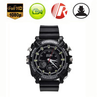 Wholesale 2pcs GB FPS Spy Camera Night Vision Waterproof Spy Watch Camera Mini DV DVR Camcorders Hidden Camera Video Voice Recorder