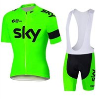 Wholesale 2016 Tour De France team SKY Cycling Jersey Set Short Sleeve Men Cycling Skinsuit Outdoor Cycling size XS XL Bicycle Wear