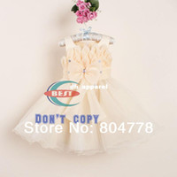 Wholesale Evening Fashion Wedding Party baby girl Dresses Pink Bow Girl s Princess Christmas Dress New