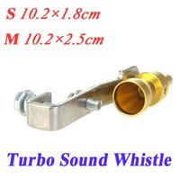 Wholesale Turbo Sound Whistle Exhaust Pipe Tailpipe Blow off Valve Aluminum Size S M Golden