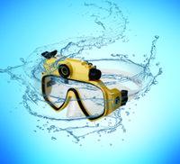 Scuba série masque de plongée étanche de plongée caméra vidéo de sport pour la plongée et la plongée en apnée-jaune