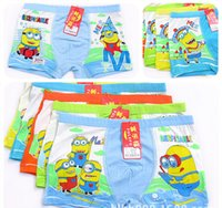Wholesale Promotion Hot sale Despicable Me Minions Cartoon Lovely kids underwear High quality boys underwear XL xxl xxxl fit yrs children