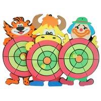 ball targets - Nerf Safety Target Toss Darts Board Sucker Sticky Ball Kids Children Cartoon Family Fitness Sandbags Ball Throwing Game Toy