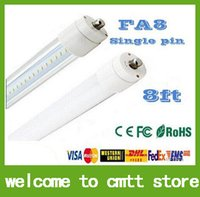 Wholesale free ship LED tube SMD LED fluorescent light tube T8 mm M ft FA8 SMD2835 led lm W AC85 V