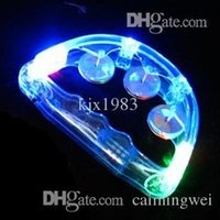 Wholesale cm LED flashing Tambourine light sway bell child party favors bar decoration supplies baby rattle light up toys