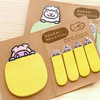 Wholesale Creative Stationery Cartoon Kraft Paper Can Be Folded Notes Sticker
