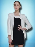 Cheap 2015 Mussa autumn new style long sleeve stand collar hidden breasted woman white brief tailored suit