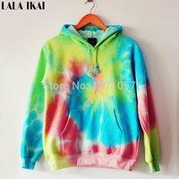 tie dye hoodies - Women Galaxy Hoodies Harajuku Sweatshirt Tie Dyed Gradient Pullovers Oversize Fleece Sweatshirts SWI0111